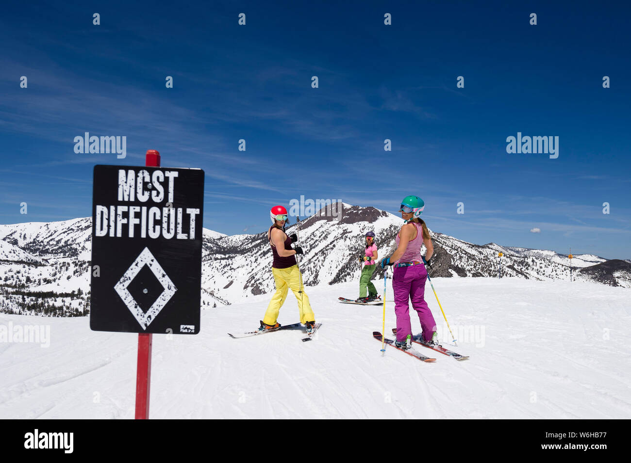 Mt. Rose spring skiing. Stock Photo
