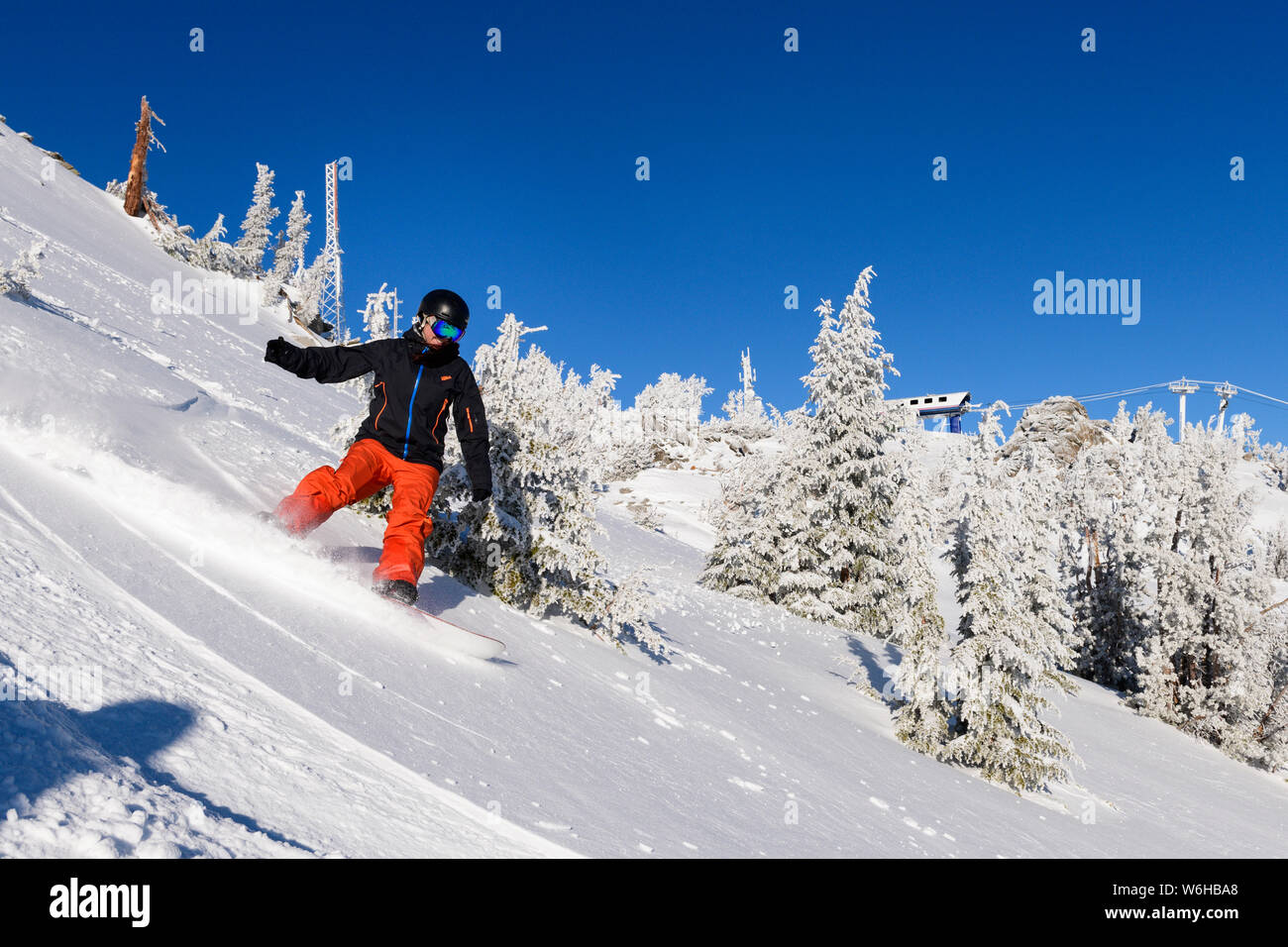 Mt. Rose ski shoot with Siani, Eric and Jessica. Stock Photo