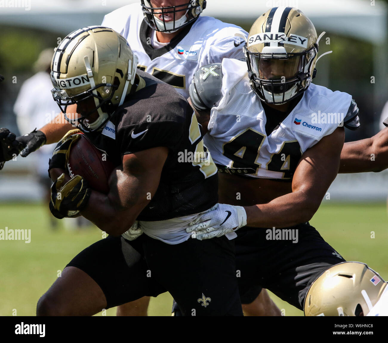 cheap for discount 1a375 4ddbe August 1, 2019: Saints running back Dwayne Washington (27 ...