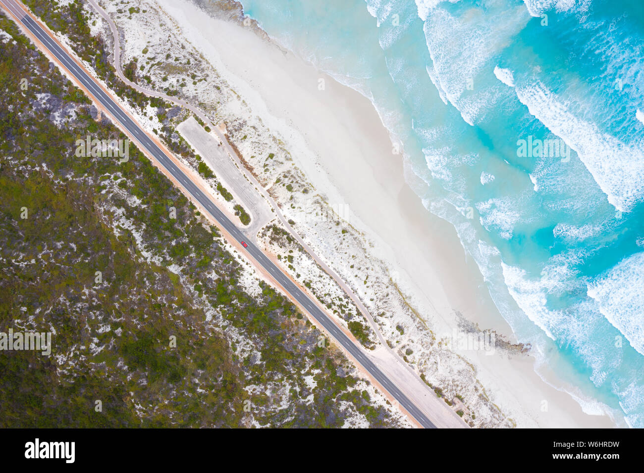 Aerial View of Great Ocean Drive in Esperance, Western Australia, Australia. Travel and Vacation concept. Stock Photo