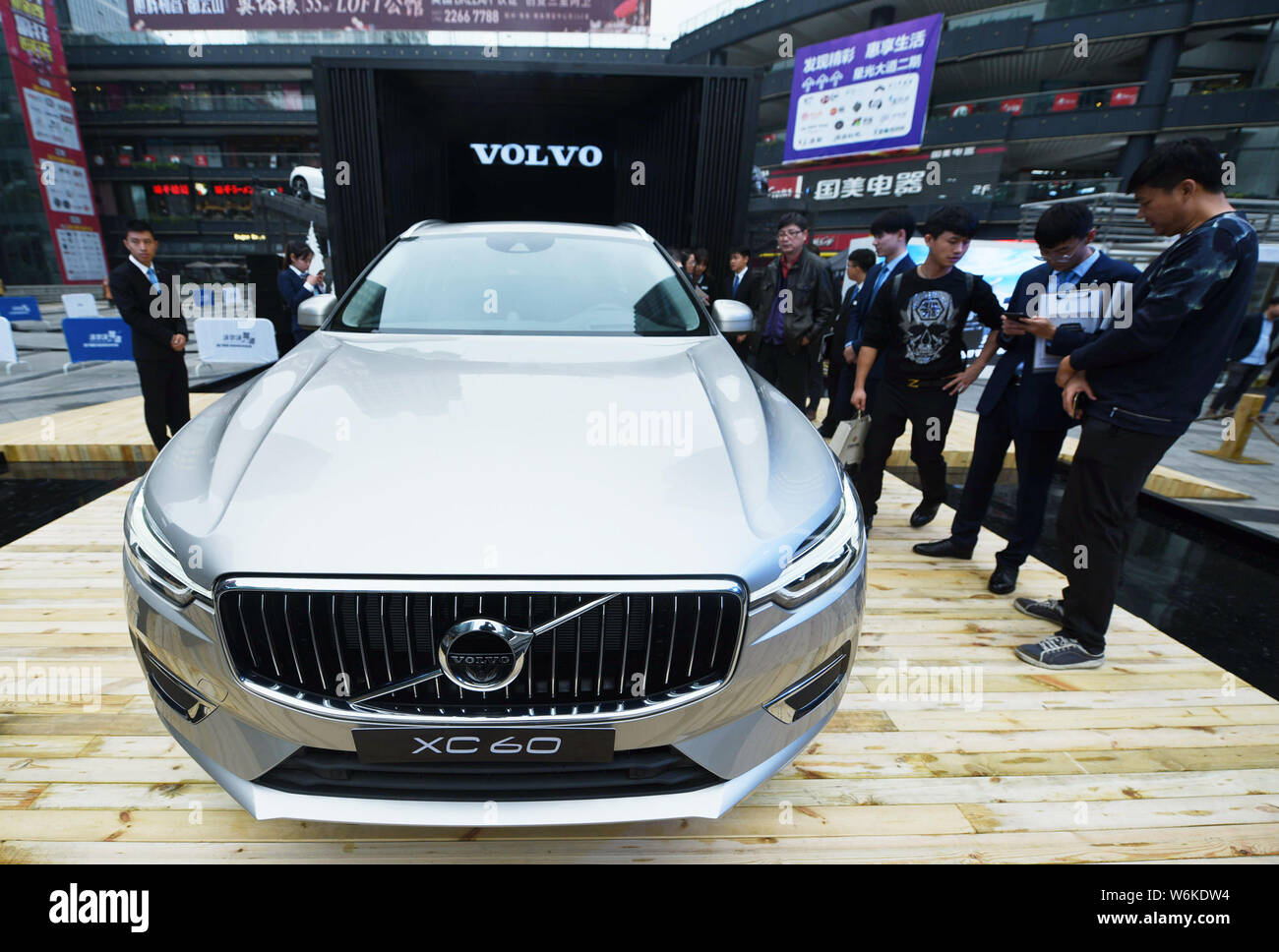 FILE--A Volvo XC60 is on display during an automobile