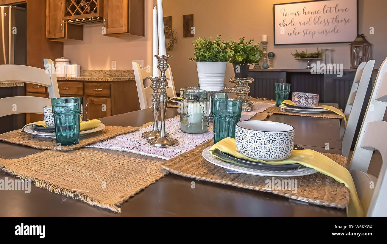 Astonishing Panorama White Chairs Around A Brown Dining Table With Hemp Lamtechconsult Wood Chair Design Ideas Lamtechconsultcom