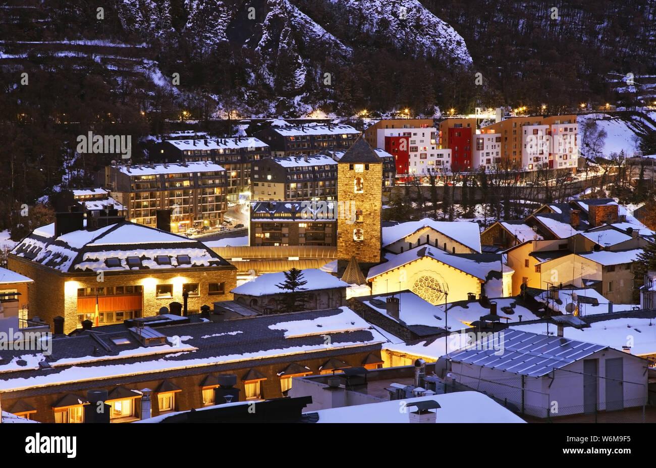 View of Andorra la Vella. Andorra Stock Photo