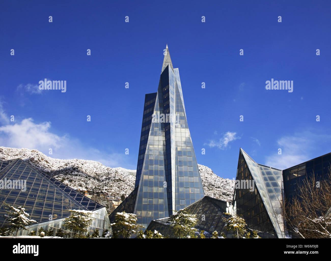Caldea in Escaldes-Engordany. Andorra Stock Photo