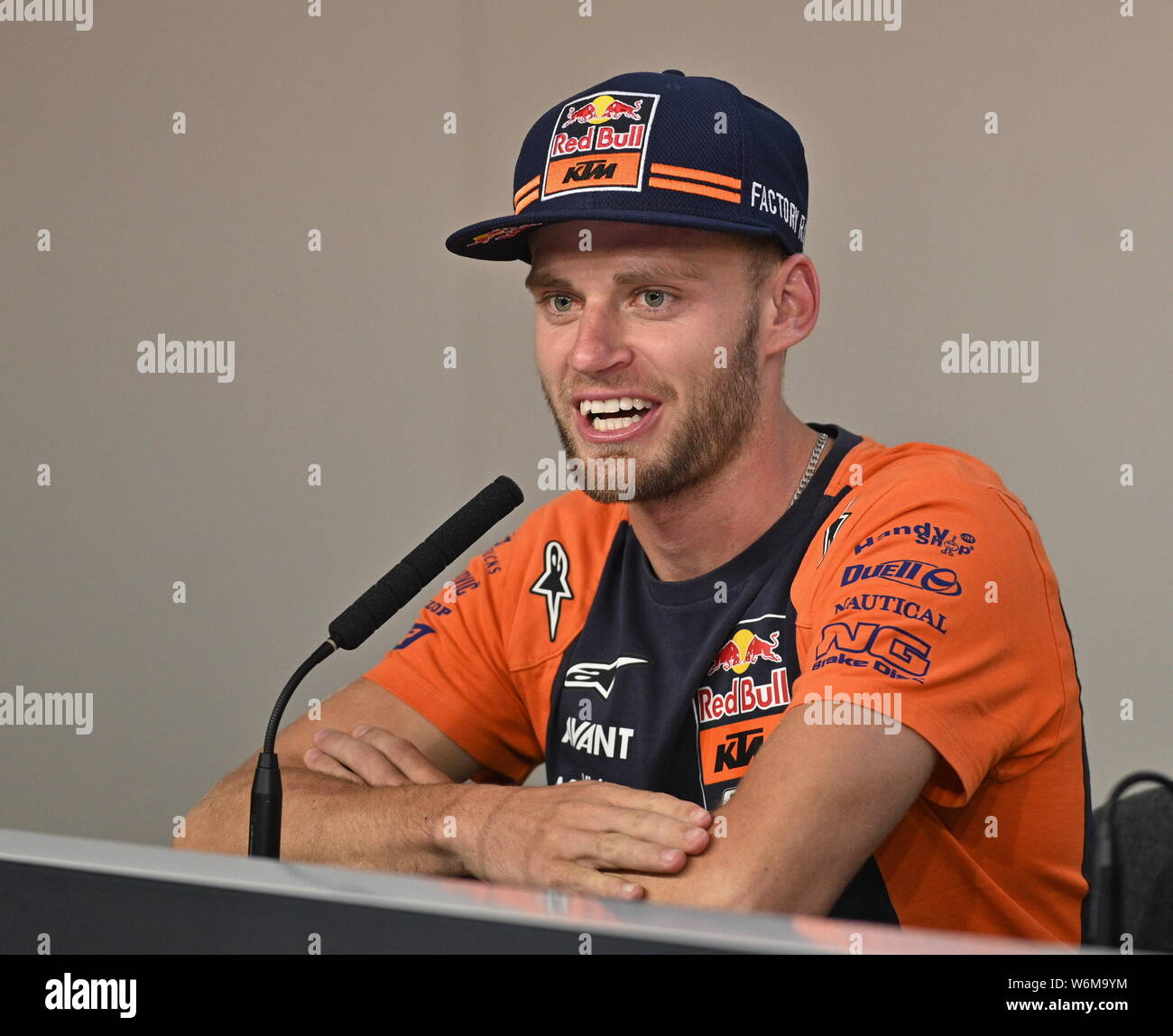 Brad Binder Of South Africa Motorcycle Road Racer Speaks During A Press Conference Prior To The Czech Grand Prix Motogp On August 1 2019 In Brno Stock Photo Alamy