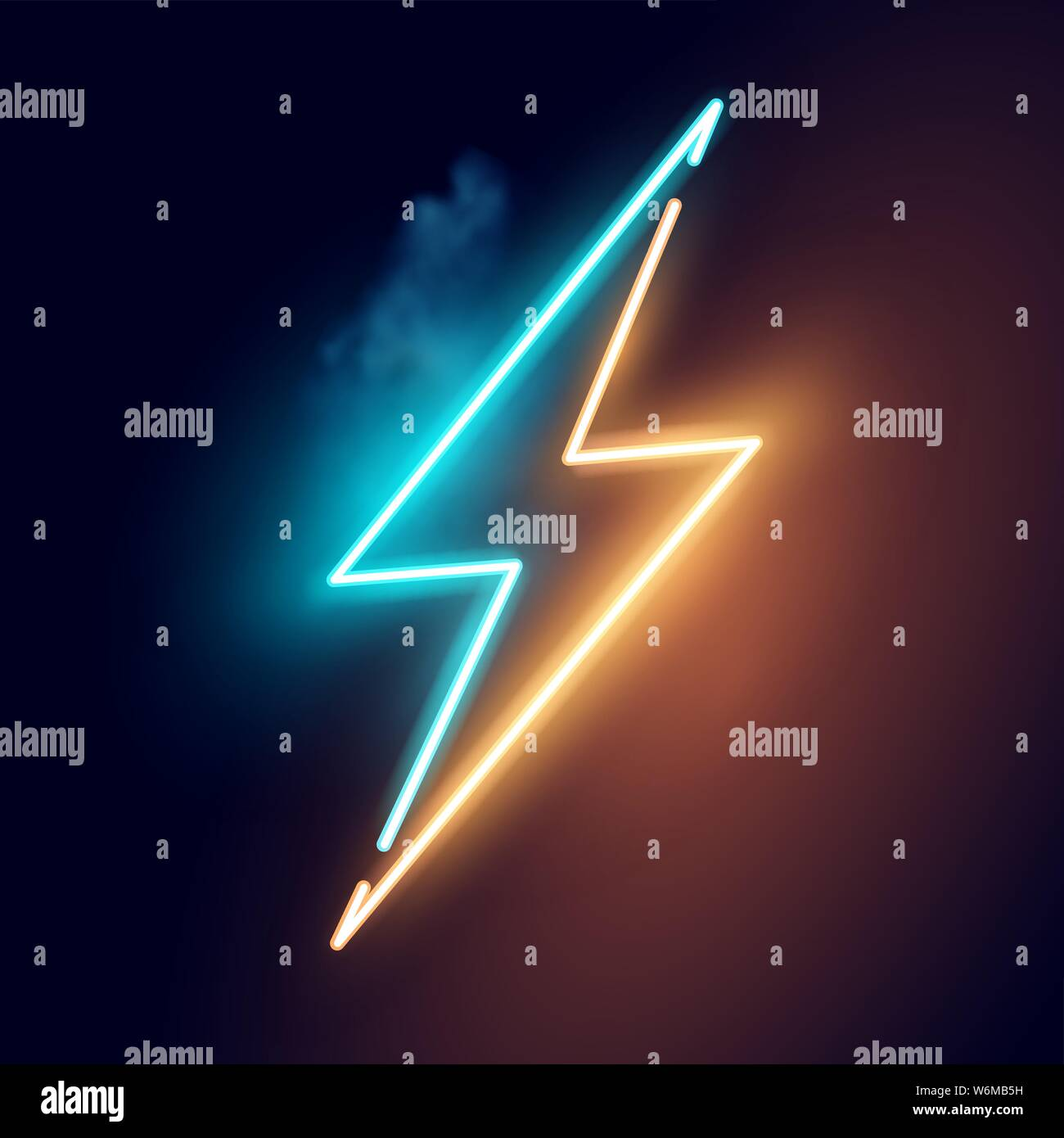 Cool Neon Lightning Art