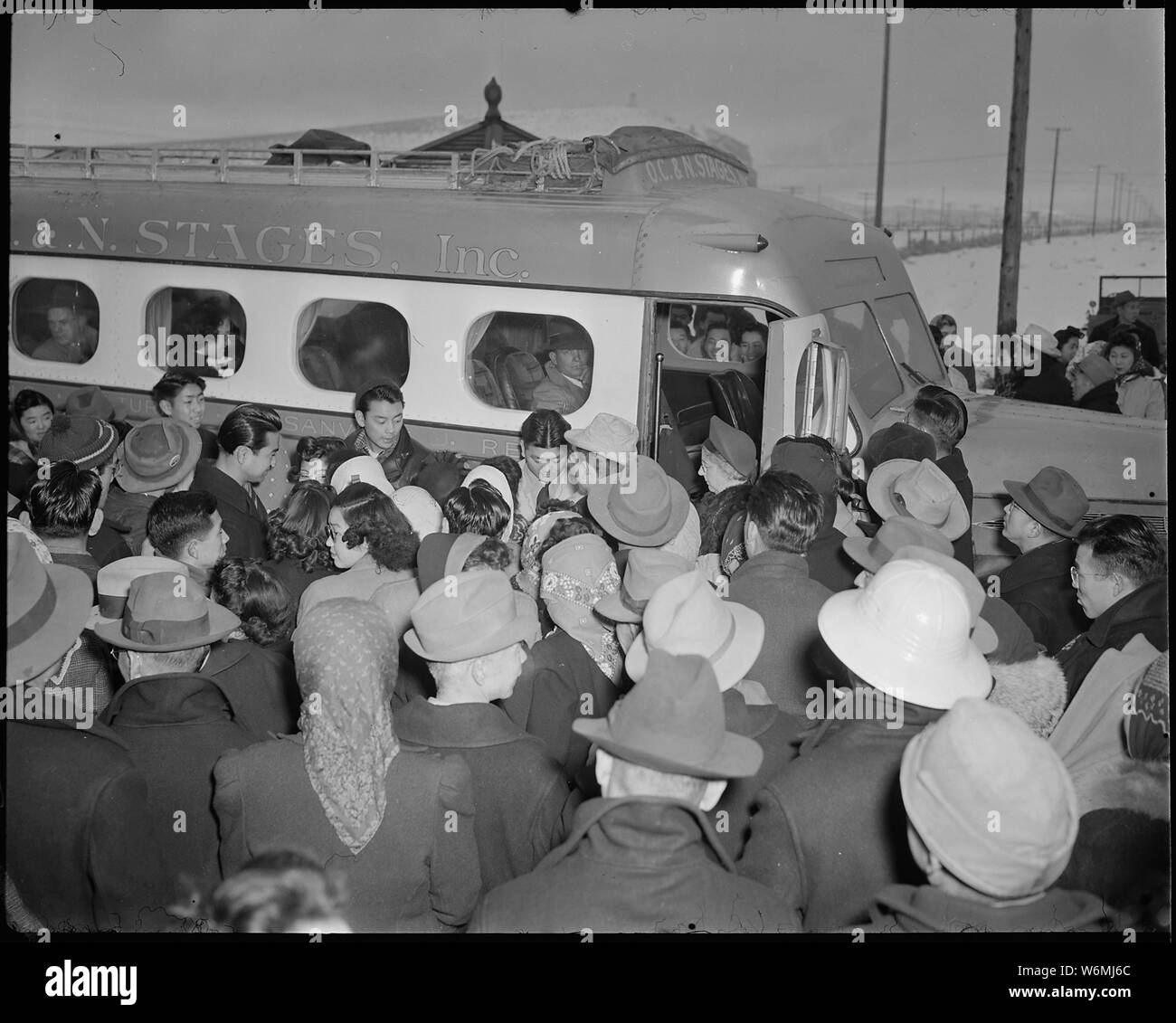 Tule Lake Relocation Center, Newell, California  A large