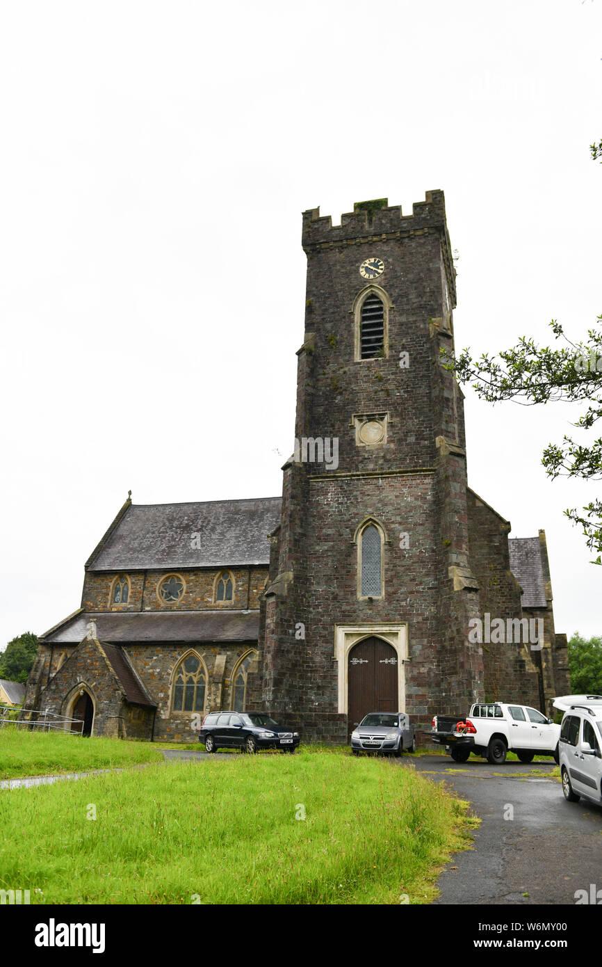St David's Church in Carmarthen. Stock Photo