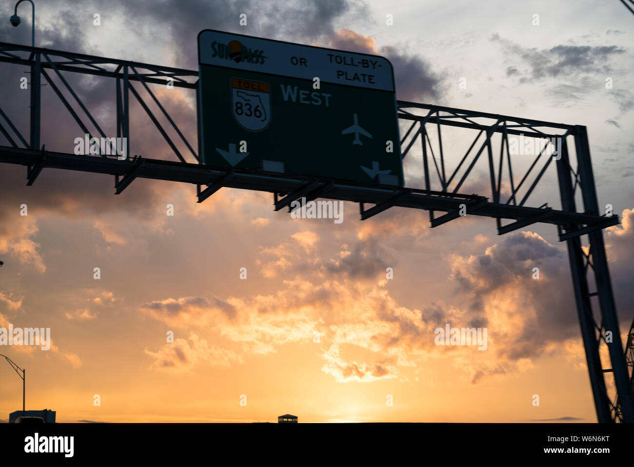 Miami Freeway Sign Stock Photo