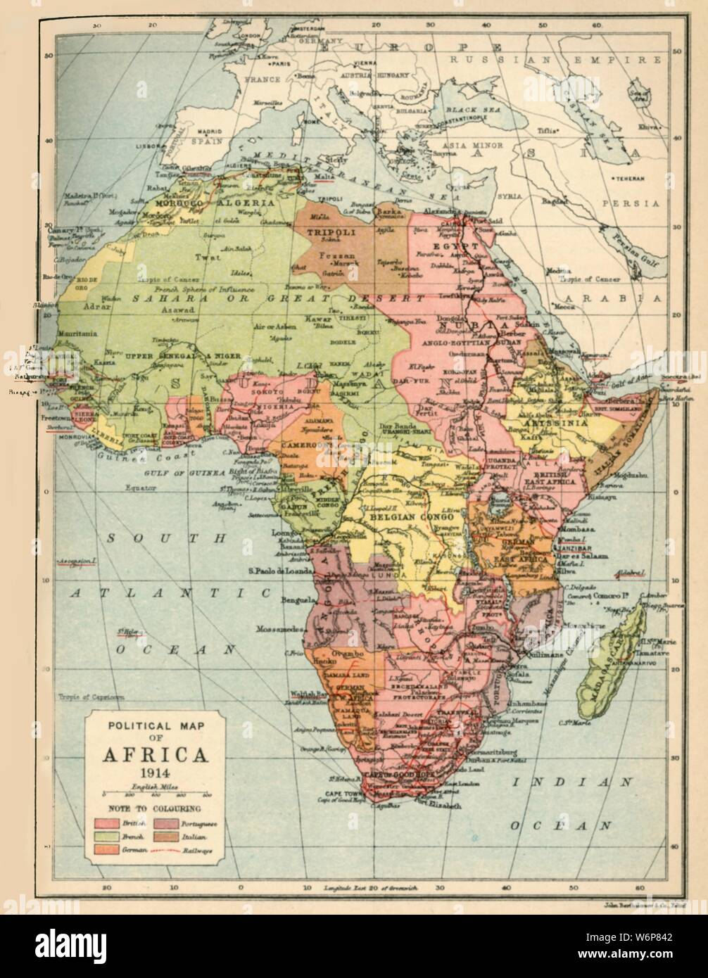 Cartina Africa In Italiano.Political Map Of Africa High Resolution Stock Photography And Images Alamy