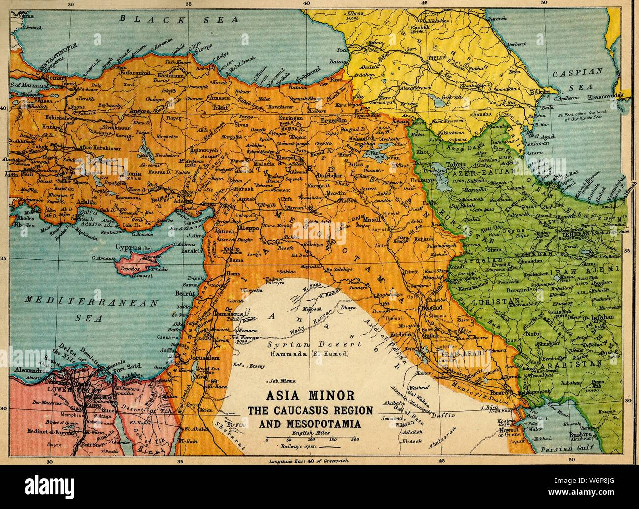 Caucasus Map High Resolution Stock Photography And Images Alamy