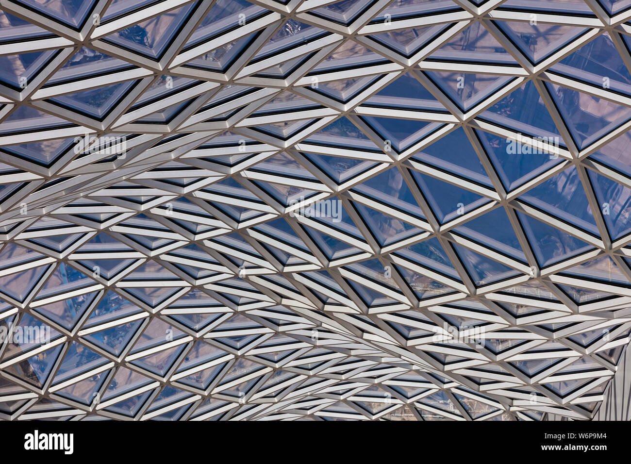 Wavy roof at Westfield Shopping Centre in West London Stock Photo
