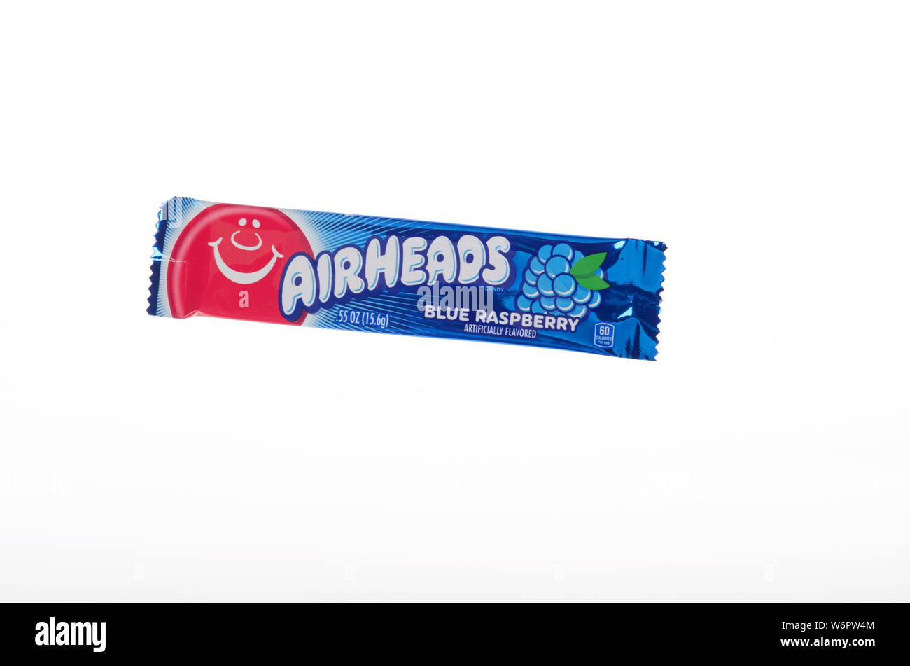 Airheads blue raspberry taffy like candy by Perfetti Van