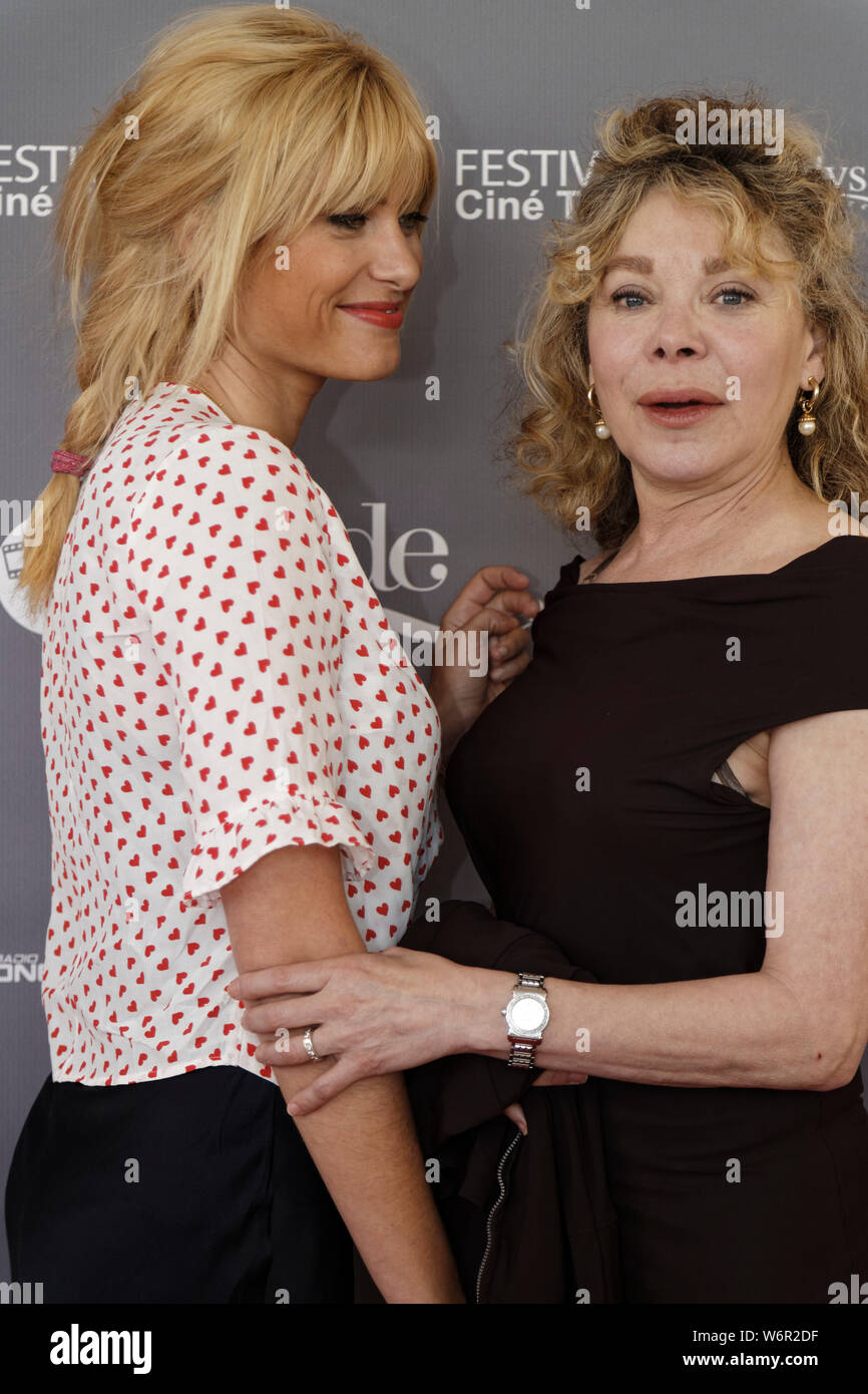Cap of Agde, France.22th June, 2019. Day 5 -  Mathilde Bisson and Grace de Capitani attend The Herault of Cine and TV at Congress Palace. Stock Photo