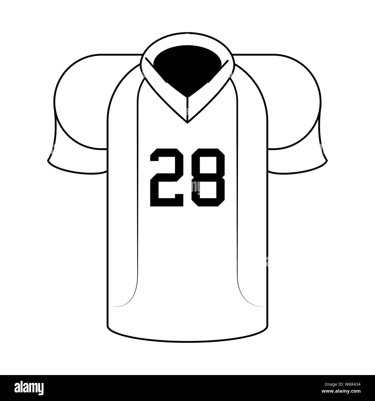 American Football Sport Game Cartoon In Black And White Stock Vector Image Art Alamy