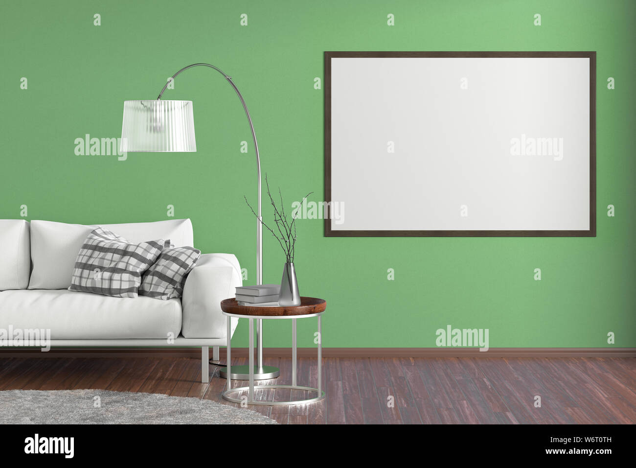 Terrific Blank Horizontal Poster On Green Wall In Interior Of Living Machost Co Dining Chair Design Ideas Machostcouk