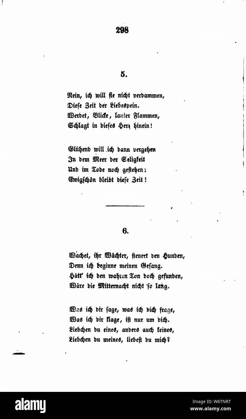 De Fallersleben Gedichte 298 Stock Photo 262387436 Alamy