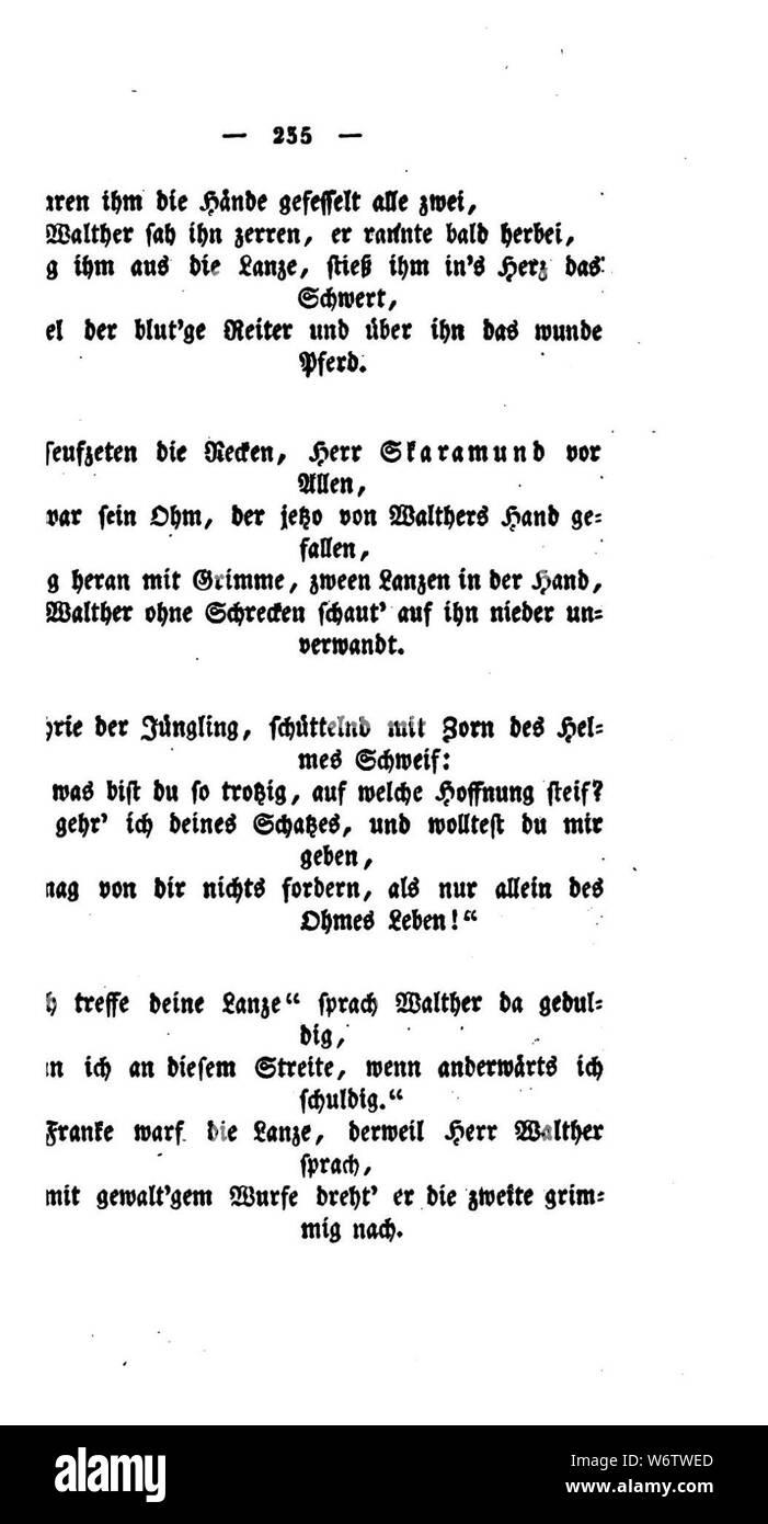 De Gedichte Schwab 1829 235 Stock Photo 262390309 Alamy