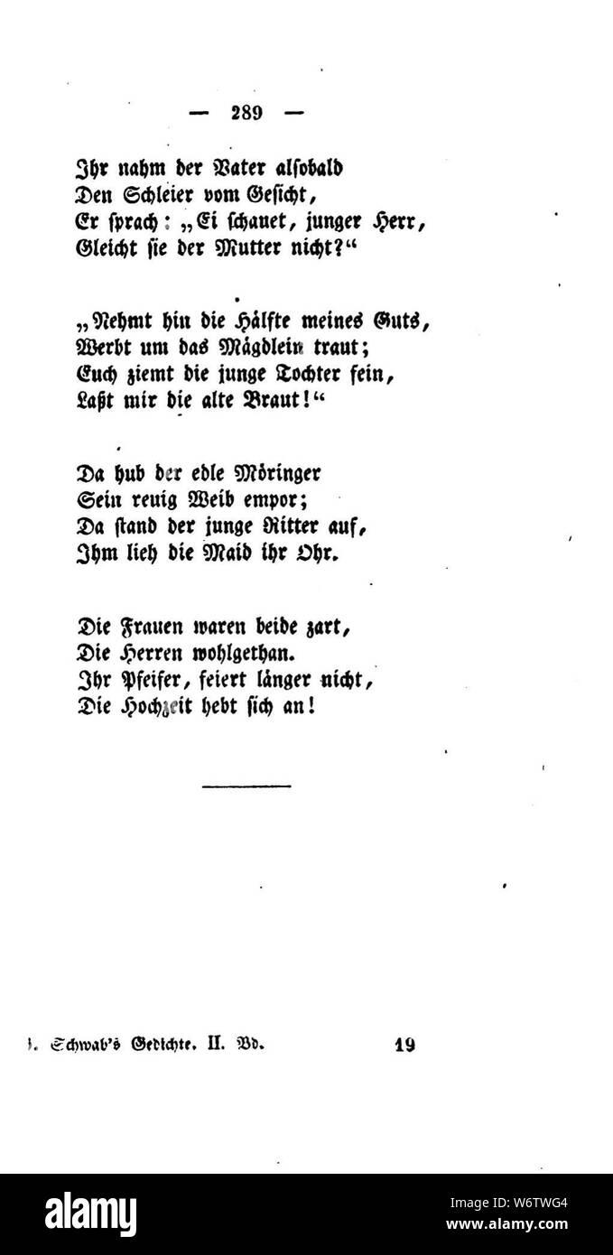 De Gedichte Schwab 1829 289 Stock Photo 262390356 Alamy
