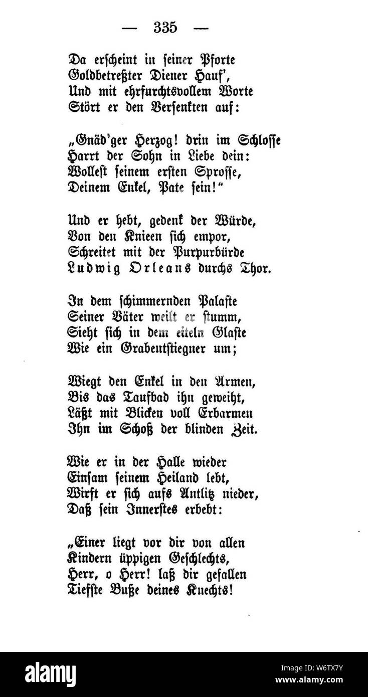 De Gedichte Schwab 1882 335 Stock Photo 262390911 Alamy