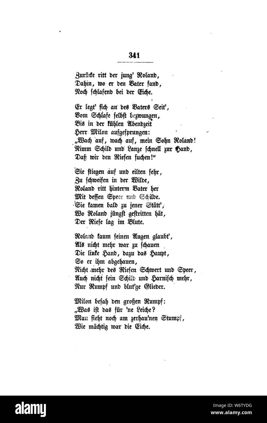 De Gedichte Uhland 359 Stock Photo 262391852 Alamy