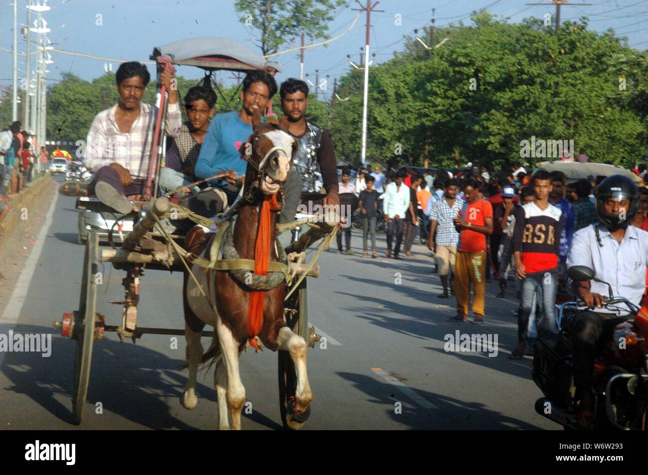 Allahabad, India  29th July, 2019  Horse race which was held