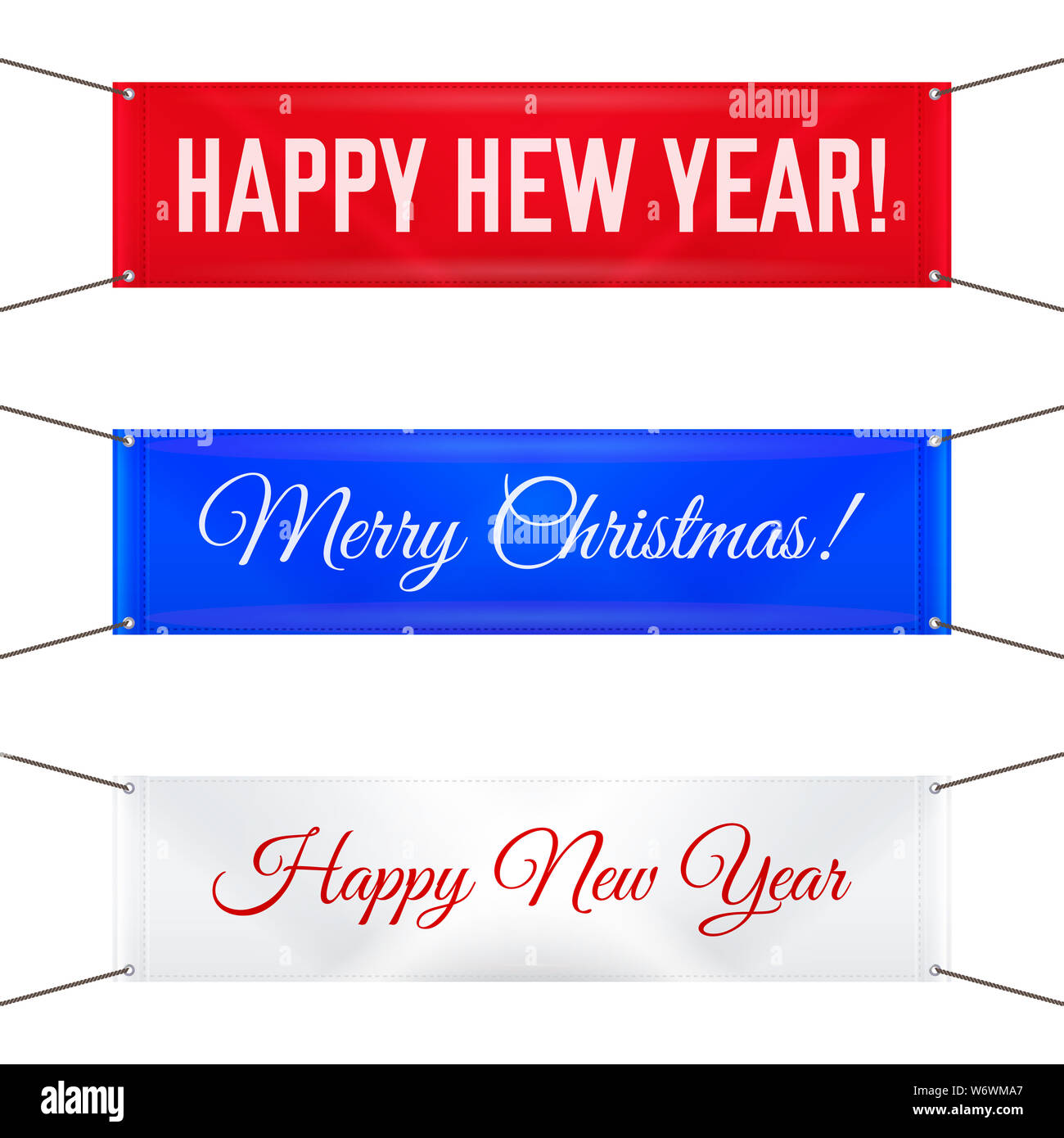 Hanging Banner Images Merry Christmas & Happy New Year 2020 Hanging Textile Banners with Grommets. Merry Christmas and Happy