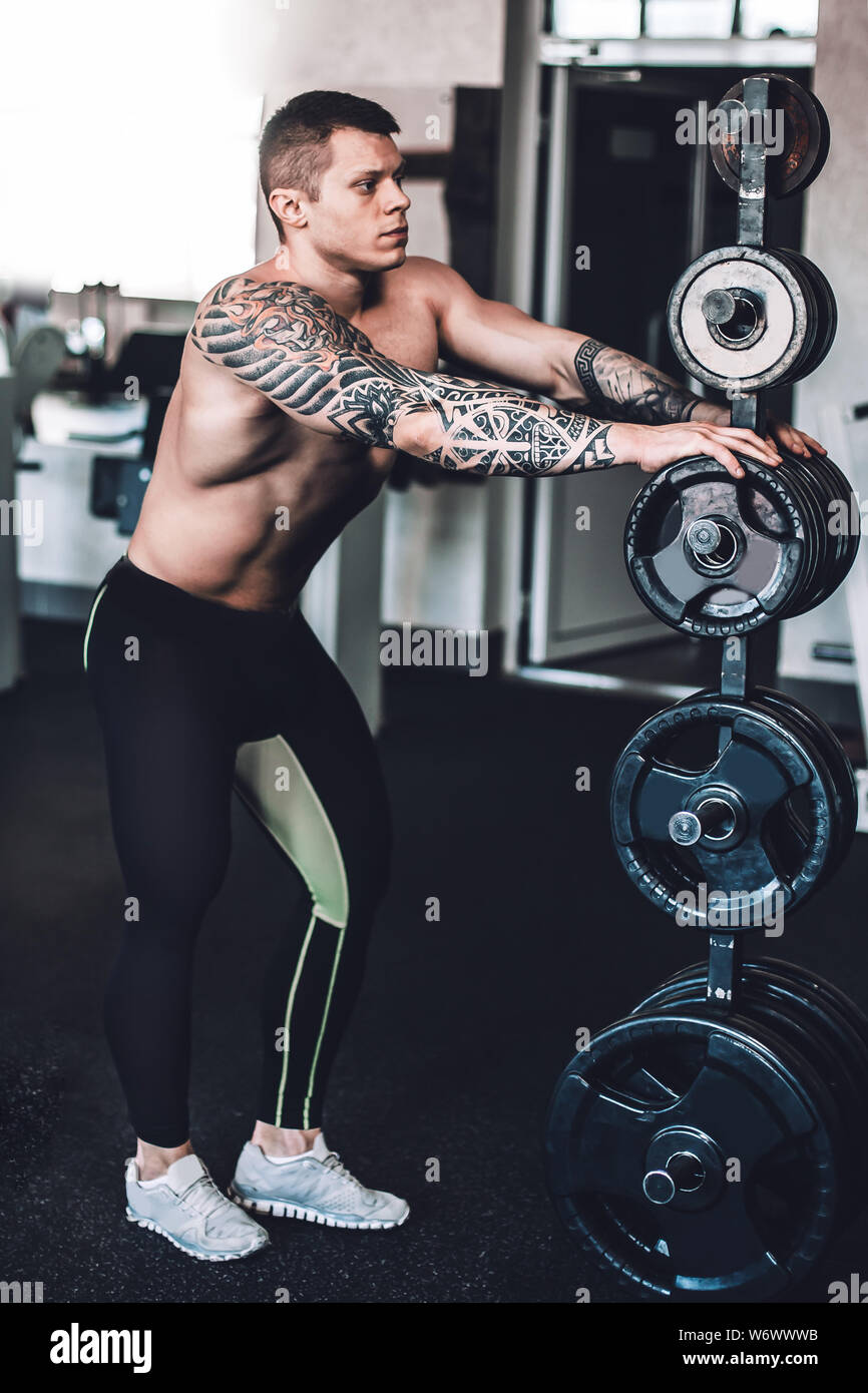 Tattoo gym Working Out
