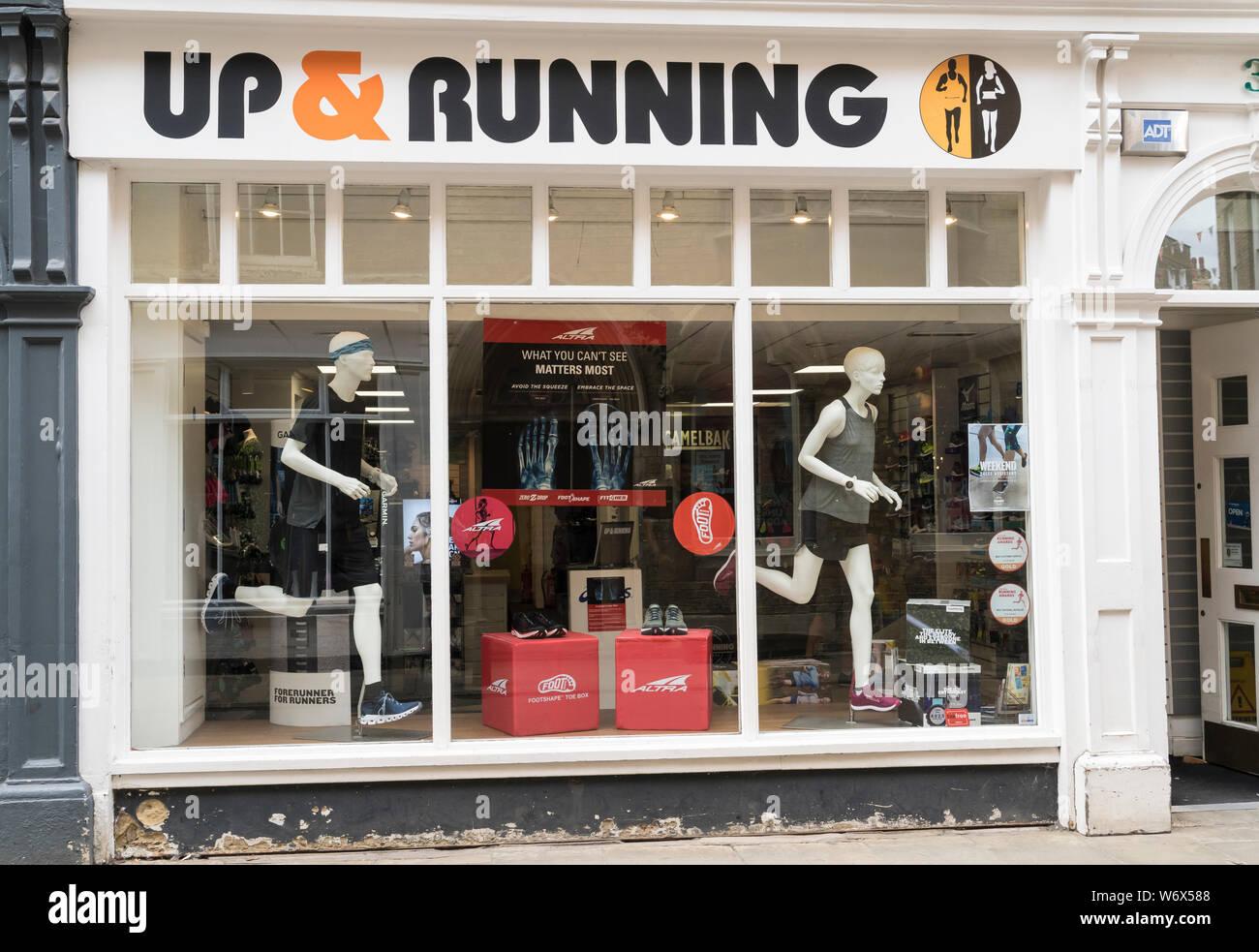 Up \u0026 Running sports shop Trinity Street