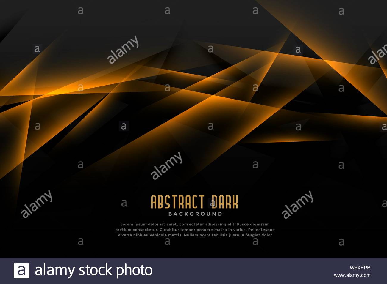 Abstract Black And Golden Background With Light Line Effect Stock Vector Image Art Alamy