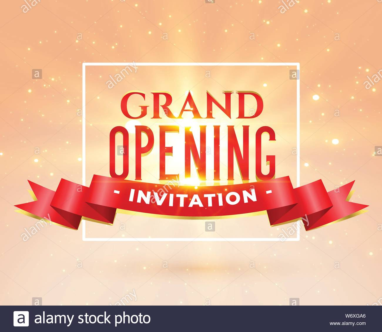 Grand Opening Party Invitation Card Design Stock Vector Art