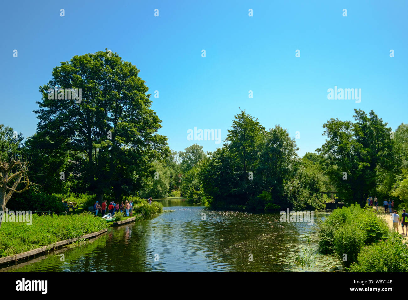 Site of Constable's Scene of a Navigable River, River Stour, UK Stock Photo