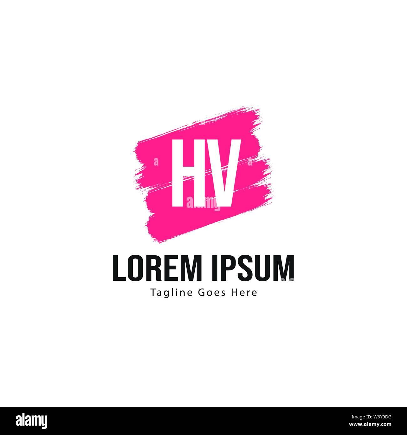 Initial Hv Logo Template With Modern Frame Minimalist Hv Letter Logo Vector Illustration Design Stock Vector Image Art Alamy
