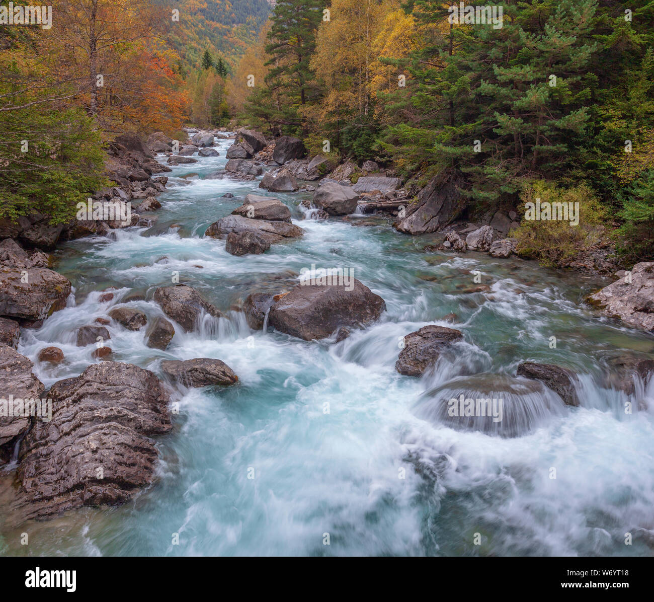 National park of Ordesa y Monte perdido. Autumn season. Stock Photo