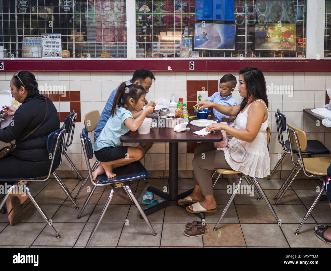 St Paul Minnesota Usa 3rd Aug 2019 A Family Has Lunch