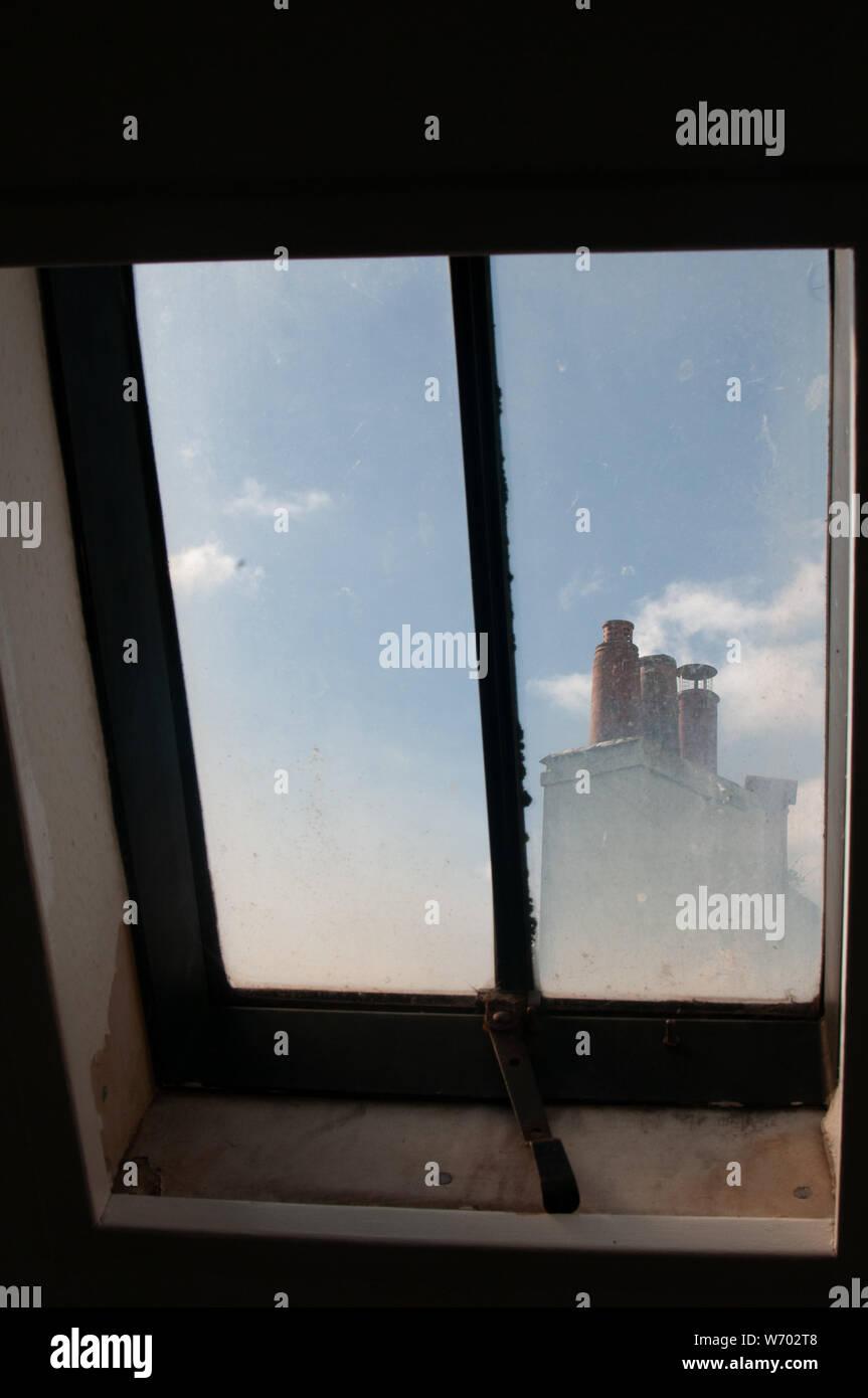 skylight and chimneys Stock Photo