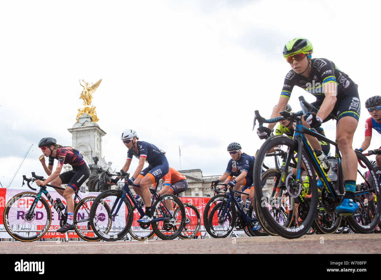 London, UK  3 August, 2019  Riders from sixteen of the