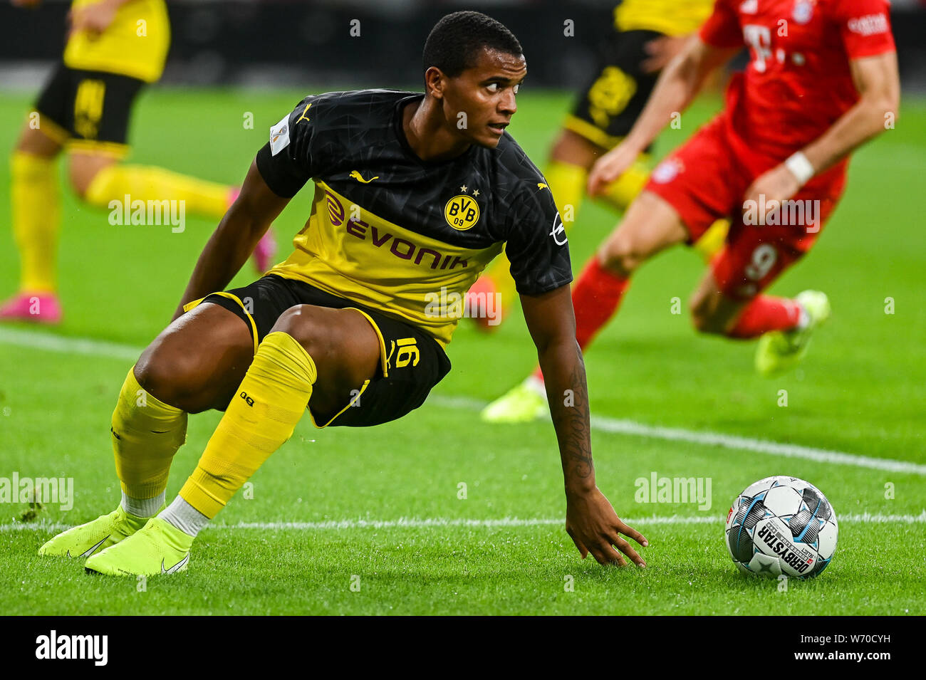 Manuel Akanji From Borussia Dortmund Seen In Action During