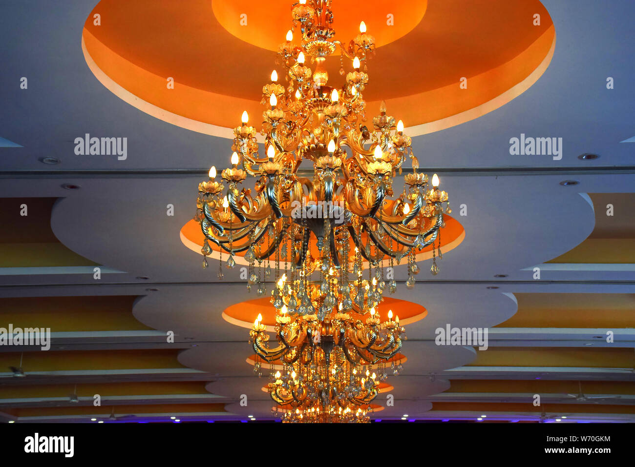 rooftop beautiful chandelier with light Stock Photo