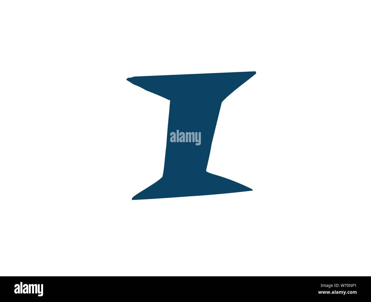 Latin letter I. Vector. Logo for the company. Icon for the site. Separate letter from the alphabet. Barbed pleasant shape. Stock Vector