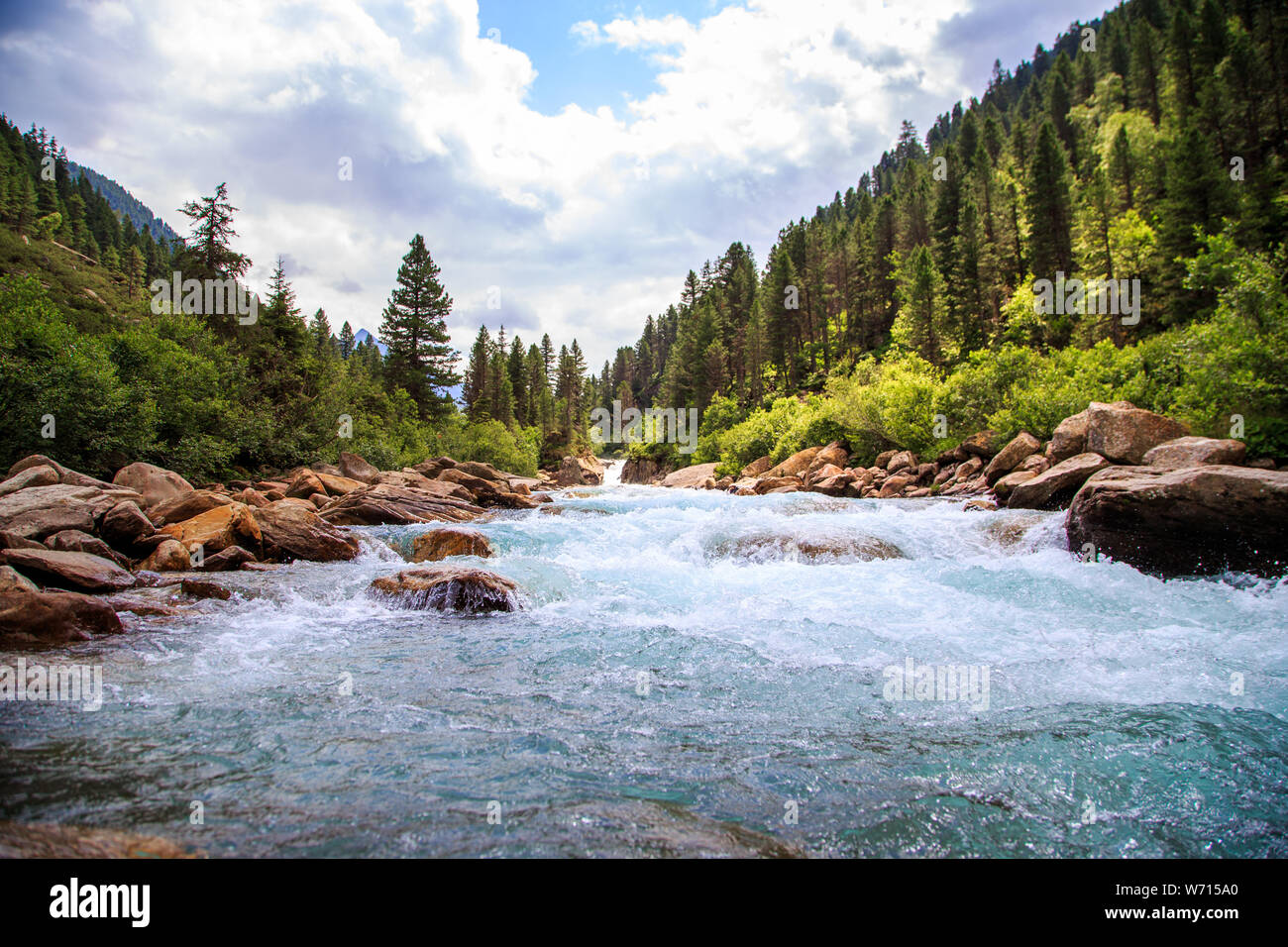 The Krimmler Ache river in the High Tauern , Austria Stock Photo