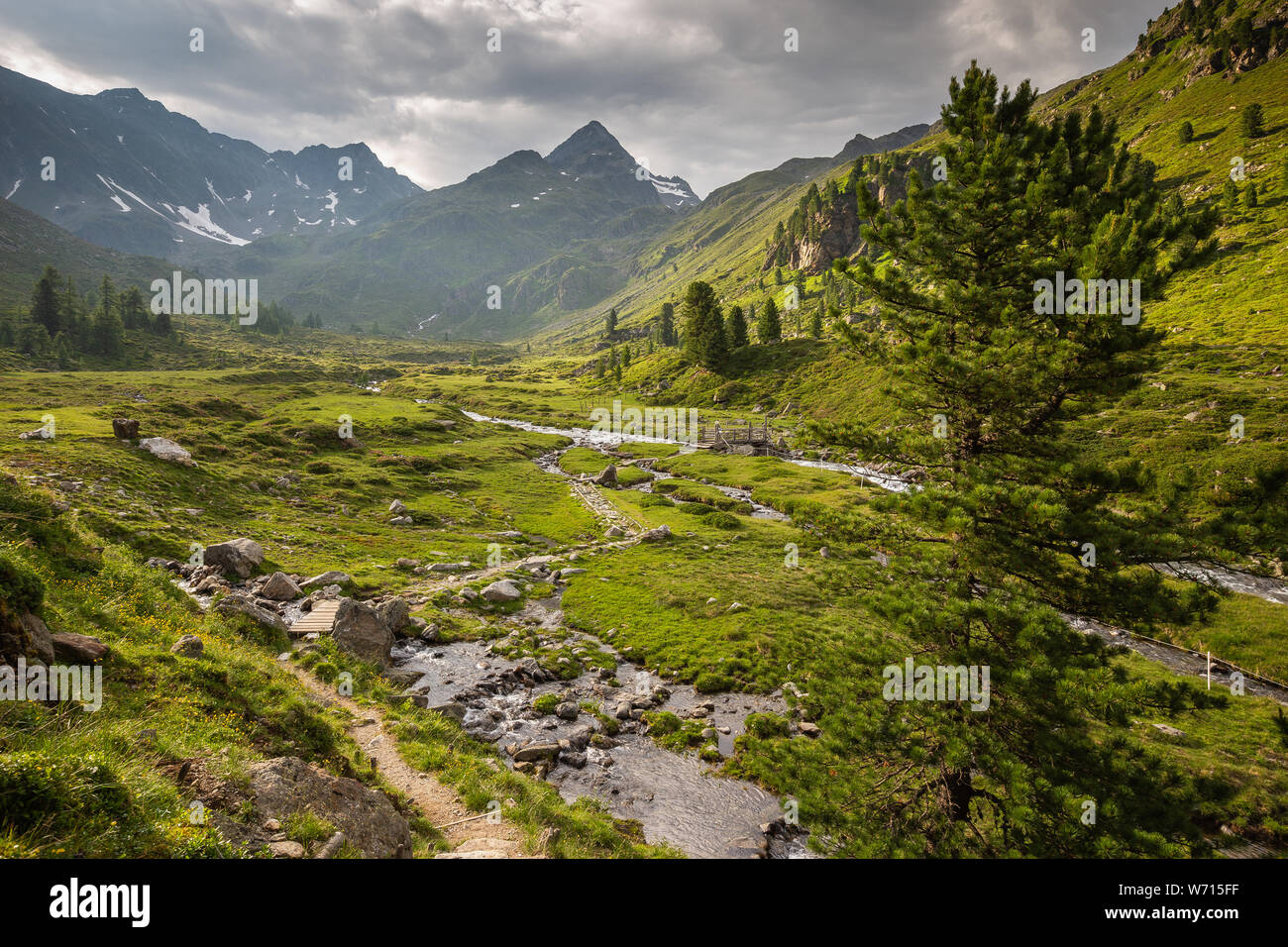 Debanttal.(Lienzer). Alpine landscape. Schobergruppe mountain massif. . Hohe Tauern National Park. Austria. Stock Photo