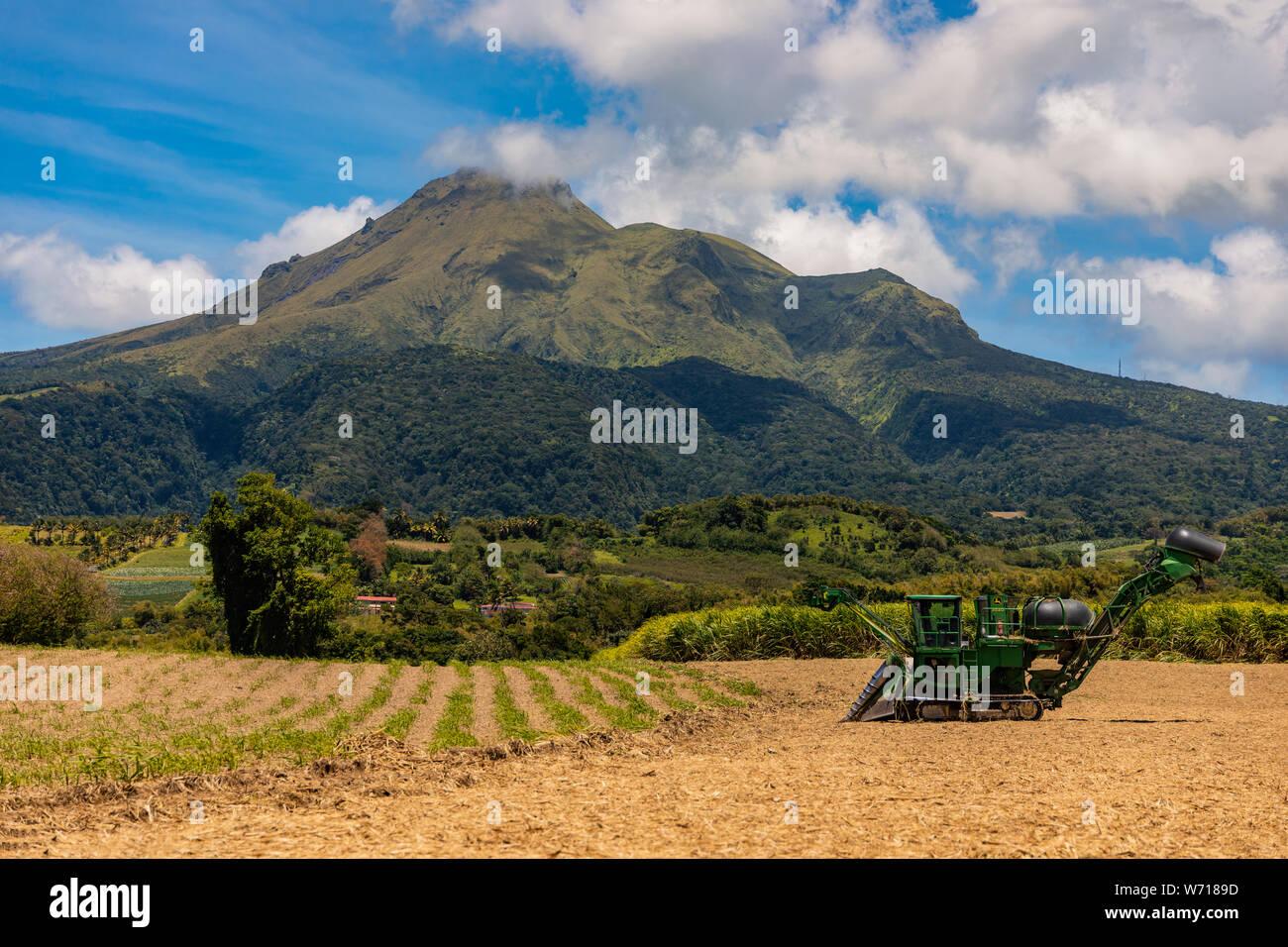 Beautiful view of the Mountain pelée Stock Photo