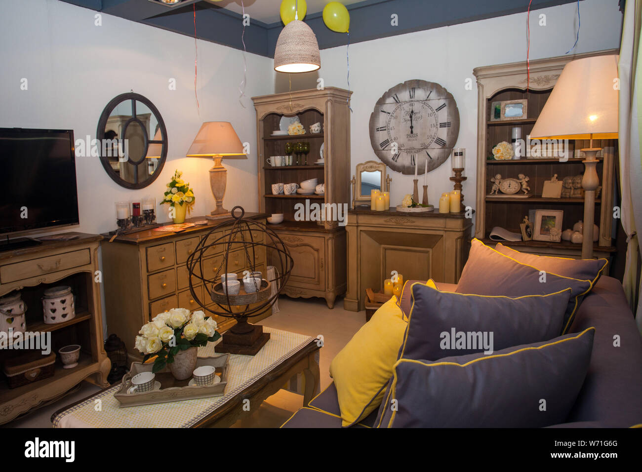 Inside view of room inside home. Stock Photo
