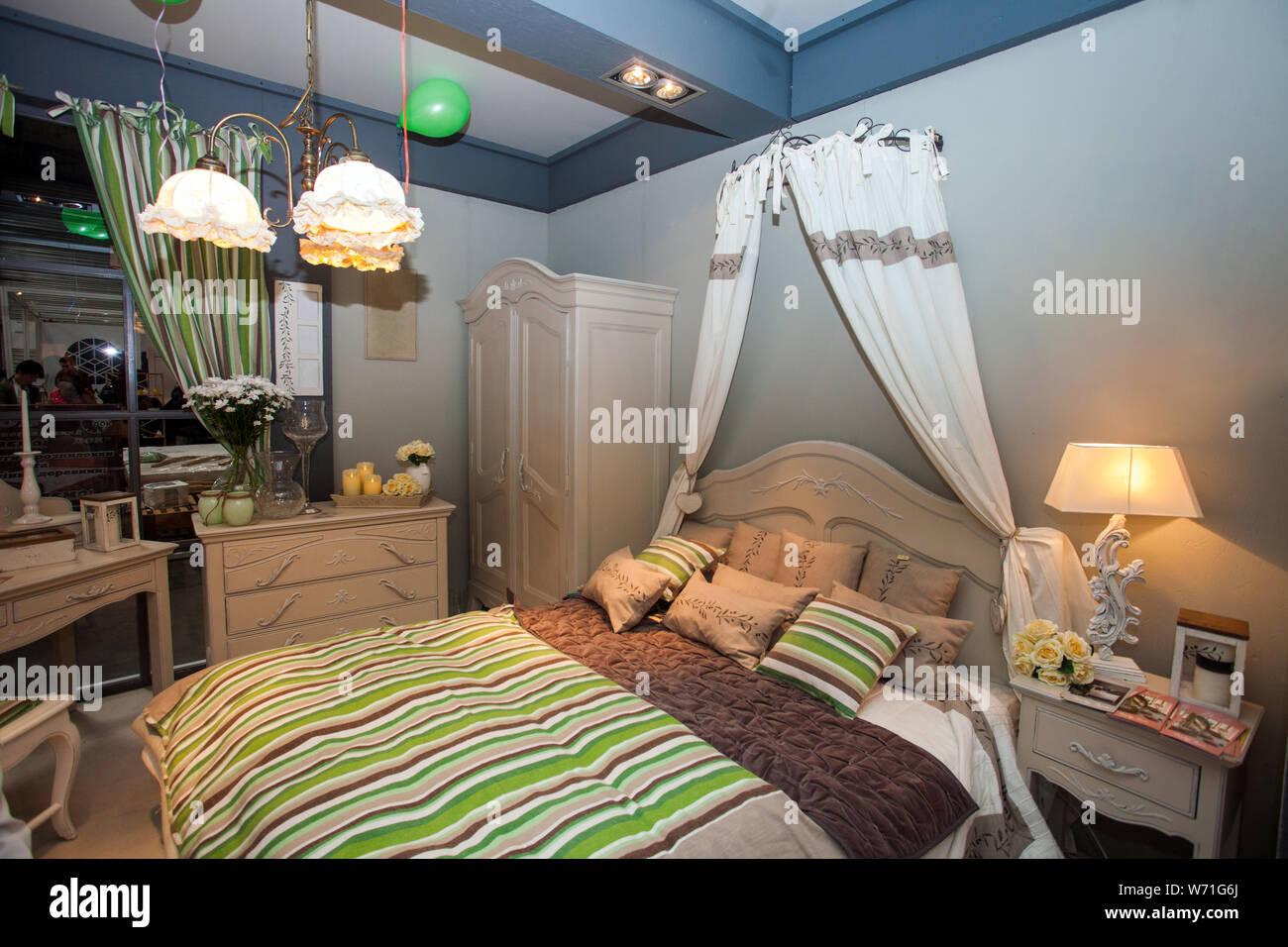 luxury comfortable modern bedroom interior Stock Photo