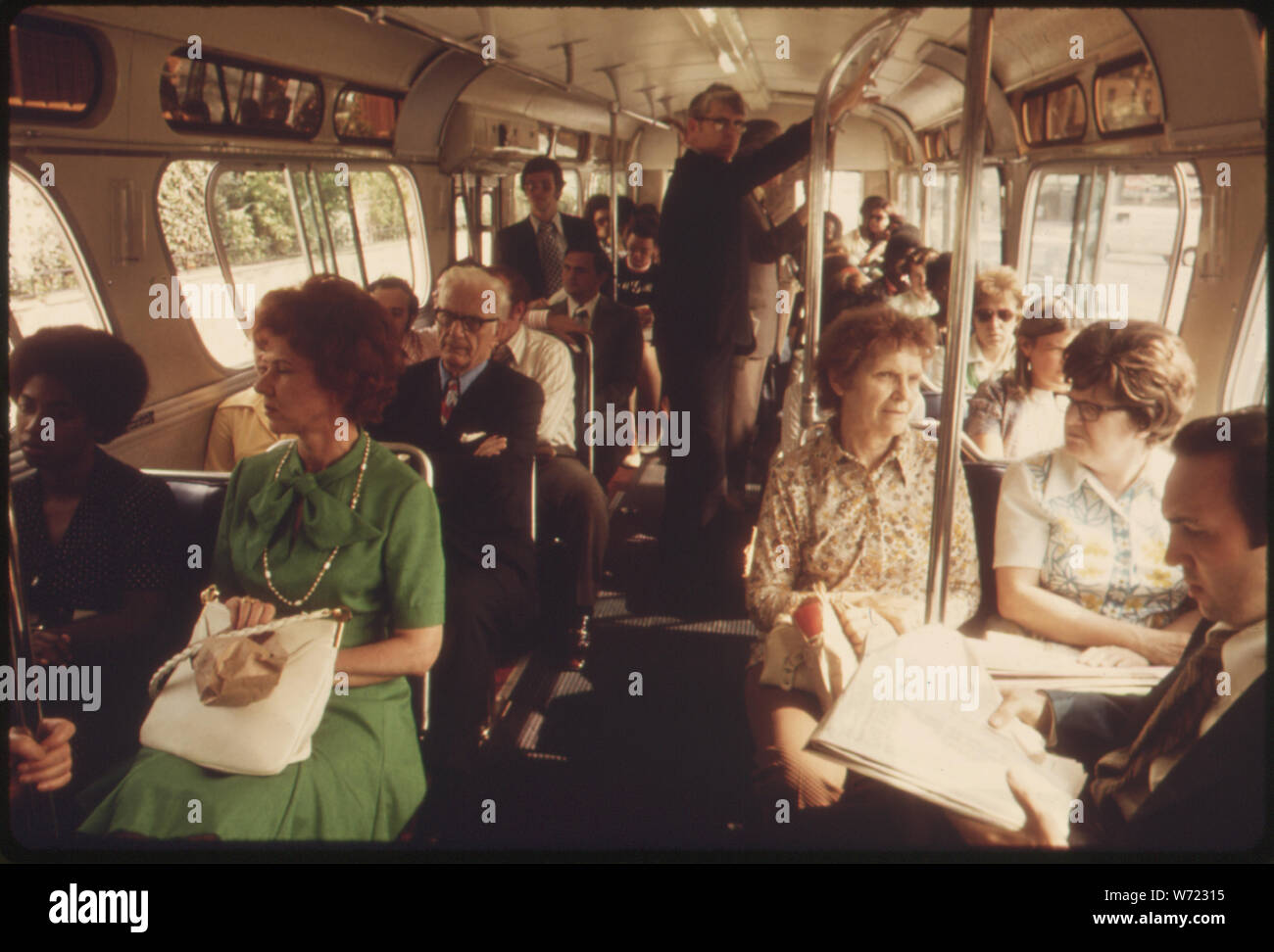 COMMUTERS ABOARD A METROPOLITAN ATLANTA RAPID TRANSIT AUTHORITY