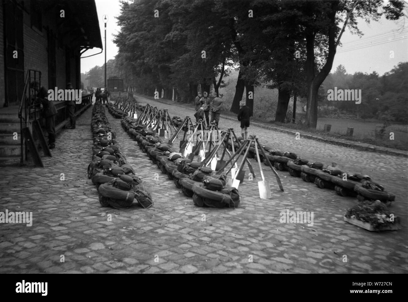 Reichsarbeitsdienst RAD Ausbildung - The Reich Labour Service Training School Stock Photo