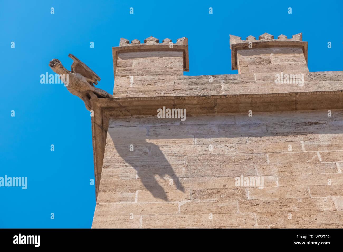 The Llotja de la Seda  (Medieval Silk Exchange), a late Valencian Gothic-style civil building in Valencia, Spain. Stock Photo
