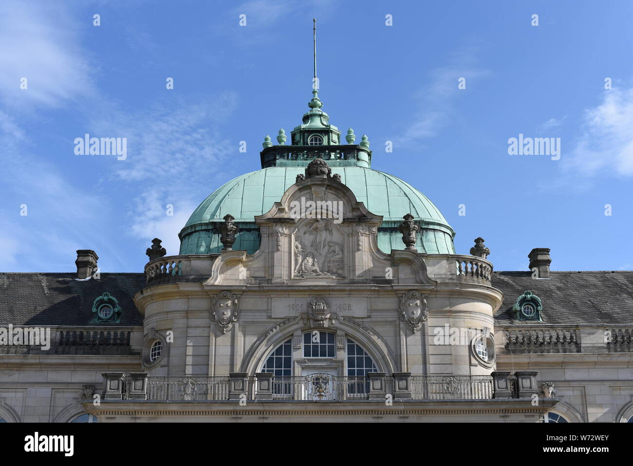 GOP Varieté-Theater Kaiserpalais Bad Oeynhausen, green roof , copper roof, old building, Bad Oeynhausen Stock Photo
