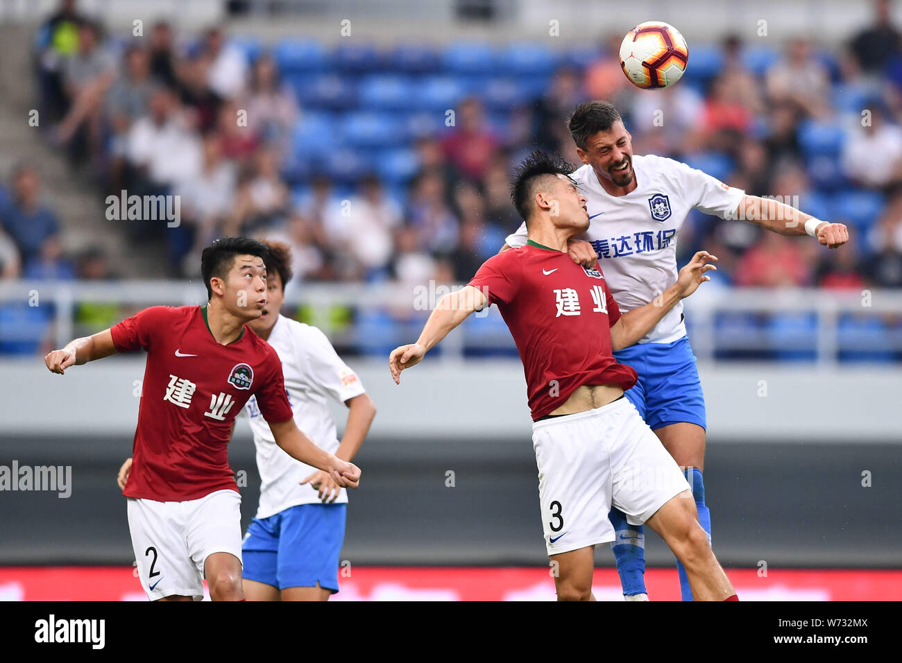 German Football Player Sandro Wagner Of Tianjin Teda F C Right